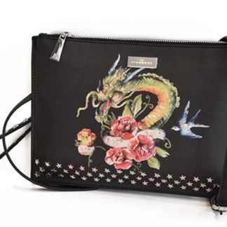 Borsa JOHN RICHMOND J10001 J02 BLACK DRAGON