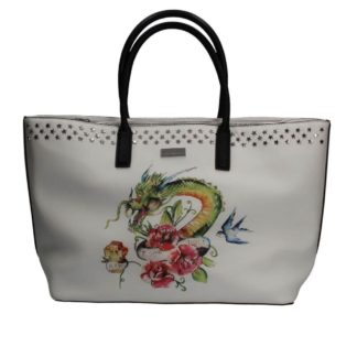 Borsa JOHN RICHMOND J10004 J04 WHITE DRAGON
