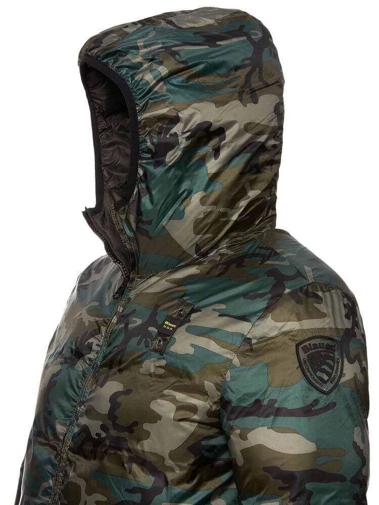 wholesale dealer 8474e e12f2 BLAUER PIUMINO UOMO CAMO REV art 6101 -4739