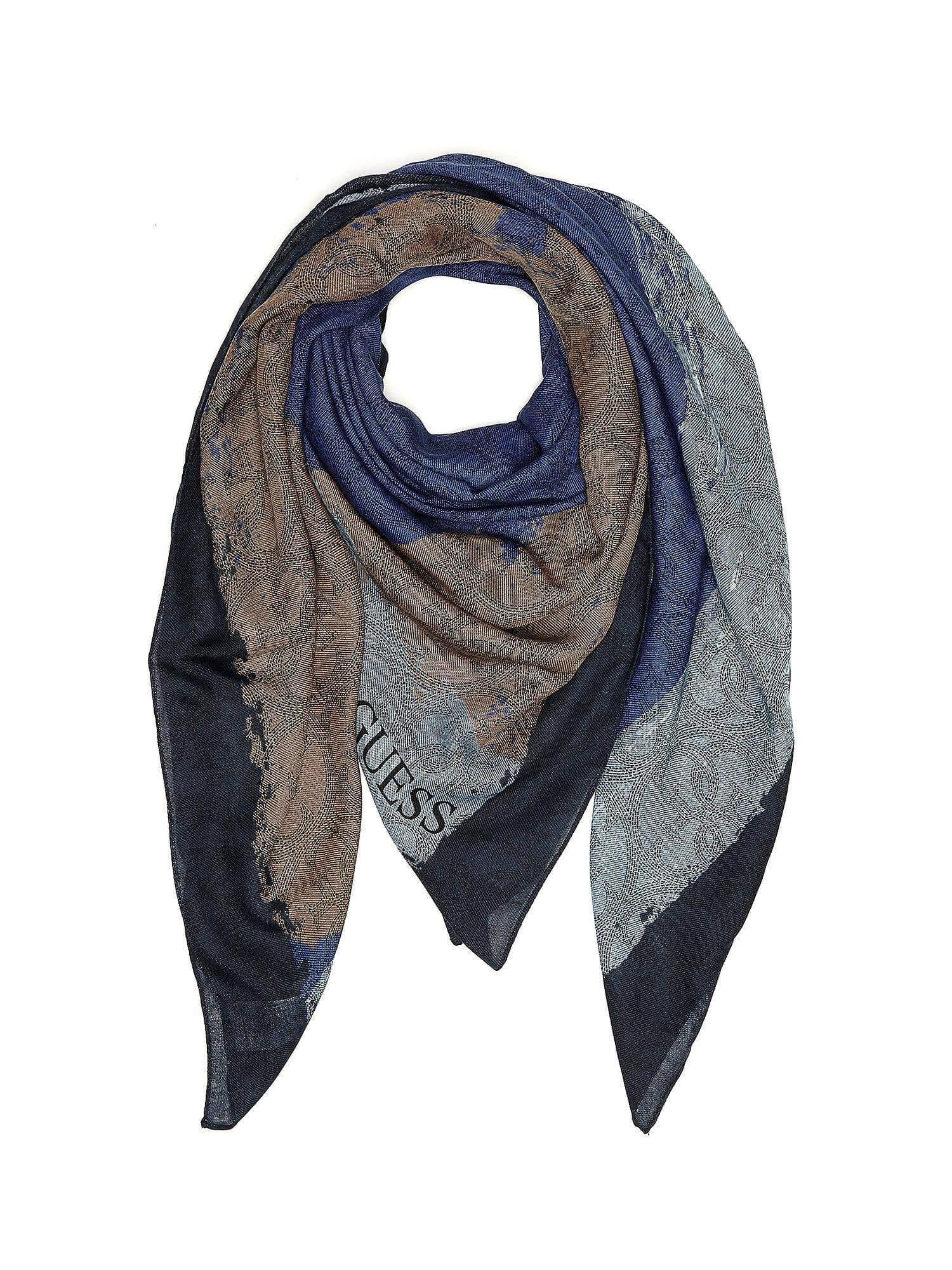 Sciarpa Am6302pol03 Blu Mediterraneo Abbigliamento Guess HHfxZB