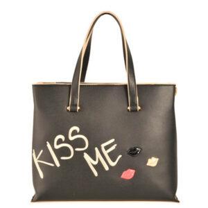 TOSCA BLU SHOPPING CON RICAMO KISS ME #BLUTOSCABLU ALTRO / LINEA KISS ME / Art. TS1882B31 col nero c99