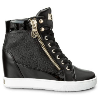 GUESS SNEAKERS FLFOR1 FAL12 BLKBL BLACK
