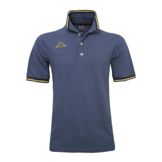 POLO KAPPA UOMO PIQUET MARE SPORT TENNIS CALCIO T-shirt MALTAX 302MX50 5 MSS COL C73 BLUE-YELLOW-BLUE