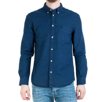 WRANGLER CAMICIA BUTTON DOWN W5883S51E DARK INDIGO