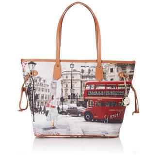 YNOT J319 Borsa Shopping grande London Bus ride