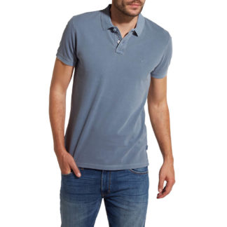 WRANGLER OVERDYE POLO W7B37KQ8O Light Blue