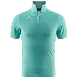 POLO KAPPA UOMO PIQUET MARE SPORT TENNIS CALCIO T-shirt MALTAX 302MX50 5 MSS COL C79 GREEN-WHITE-GREY