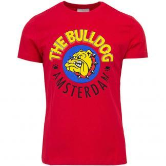 THE BULLDOG AMSTERDAM T SHIRT TBDA001 ROSSO
