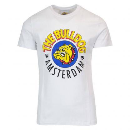 THE BULLDOG AMSTERDAM T SHIRT TBDA001 BIANCO