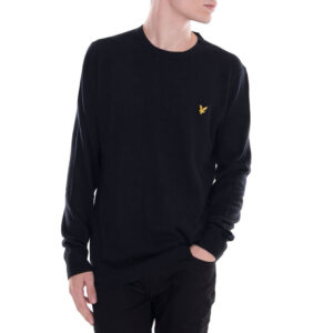 LYLE & SCOTT PULL Cotton Merino Jumper KN400VC 572 BLACK