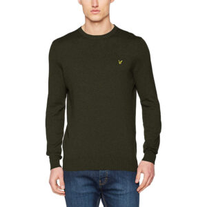 LYLE & SCOTT PULL Cotton Merino Jumper KN400VC Z378 GREEN