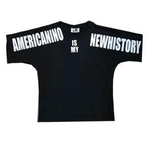 AMERICANINO T SHIRT AMERW072 NERO