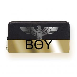 BOY LONDON PORTAFOGLI BICOLOR BLA220 NERO ORO