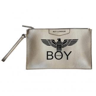 BOY LONDON POCHETTE ECOPELLE STAMPA BLA210 SILVER