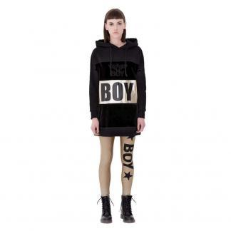 BOY LONDON ABITO FELPA CAPP BLD1664 NERO SILVER
