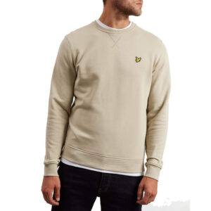 LYLE & SCOTT FELPA CREW NECK ML424VB Z363 GREEN STONE