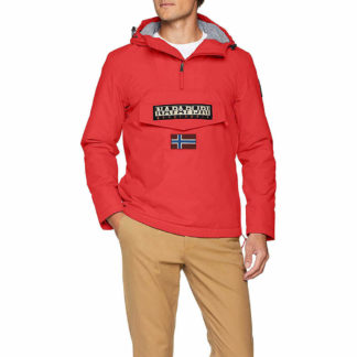 NAPAPIJRI RAINFOREST UOMO WINTER 1 N0YGNJR41 POP RED