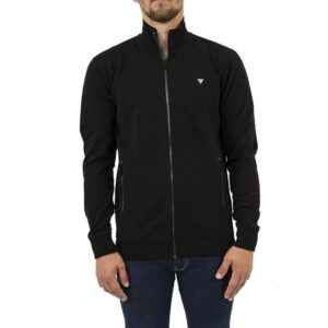 GUESS UOMO FELPA ZIP M84Q34 K7ON0 JBLK NERO