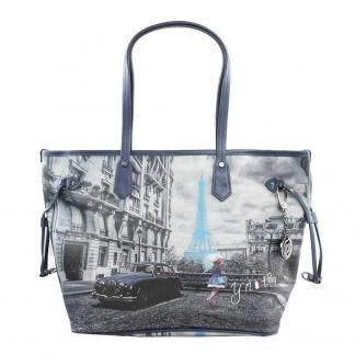 YNOT SHOPPING BAG MED K319 BLUE R PARIS