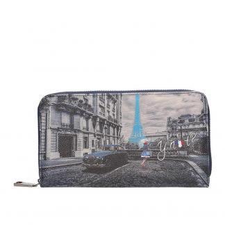 YNOT WALLET ZIP K361 BLUE R PARIS