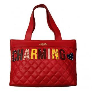 LOVE MOSCHINO BORSA QUILTED NAPPA PU ROSSO JC4224PP06KC0500