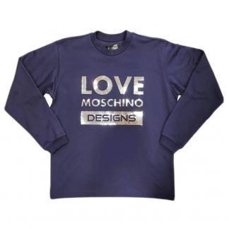 LOVE MOSCHINO FELPA GIRO M6518 01 M3875 Y64 BLUE