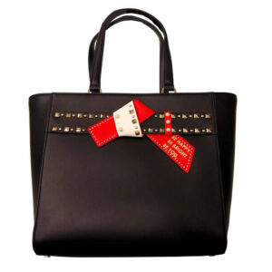 ERMANNO SCERVINO BORSA MEDIUM SHOPPING DUDU 12400595 BLACK RED