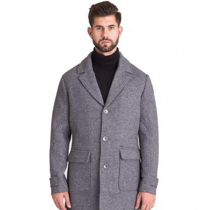 GUESS UOMO CAPPOTTO WOOLED COAT M84L38 WAT20 FZM3 GREY