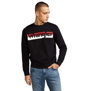WRANGLER LOGO CREW BLACK W6532HY01
