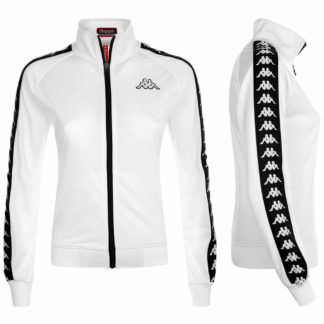KAPPA 222 BANDA WANNISTON SLIM FELPA DONNA 301PSC0 J02 WHITE BLACK