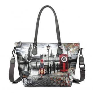 YNOT SHOPPING BAG ZIP MED K396 LONDRA