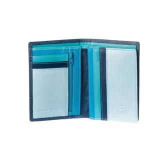 DUDUBAGS PORTAFOGLIO UOMO VERT LINEA COLORFUL TIBERIO 4714 BLUE