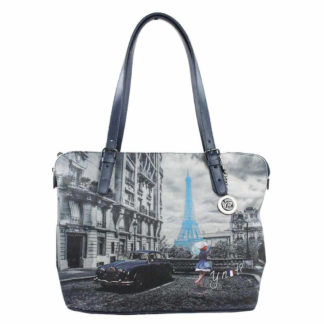 YNOT SHOPPING BAG MEDIUM K377 BLUE R PARIS
