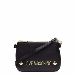 LOVE MOSCHINO BORSA GRAIN PU NERO JC4308PP06KU0000