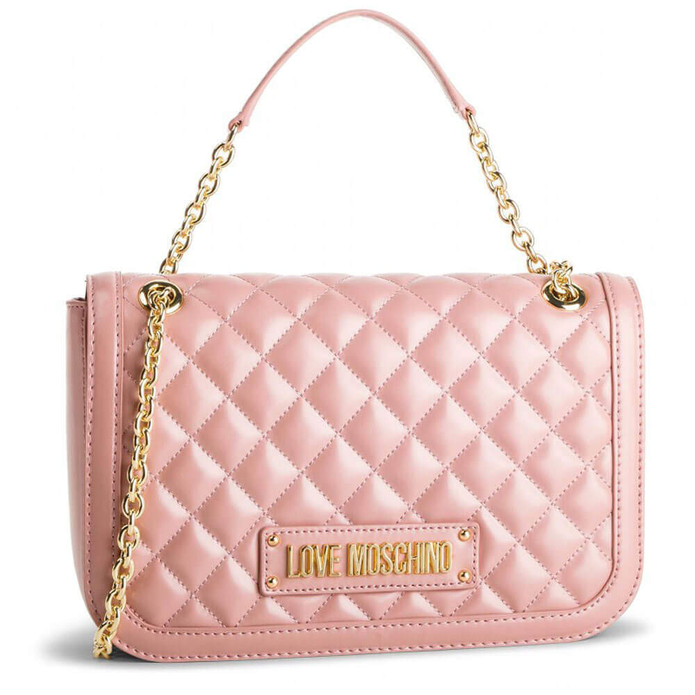 74c1944aba LOVE MOSCHINO BAG QUILTED NAPPA LEATHER PU PINK JC4003PP17LA0600 ...