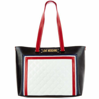 LOVE MOSCHINO BORSA QUILTED PU MIX BIANCO MULTI JC4013PP17LB110A