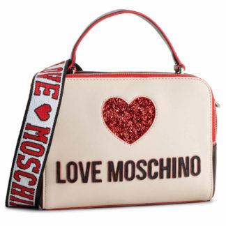 LOVE MOSCHINO BORSA NAPPA PU MIX NERO AVORIO JC4117PP17L3100A