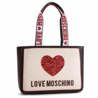 LOVE MOSCHINO BORSA NAPPA PU MIX NERO AVORIO JC4154PP17L3100A