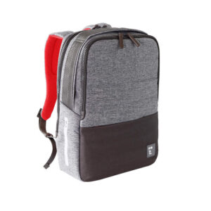 NAVA Passenger Zaino porta PC e Ipad con Power Bank e Cavetto in Omaggio PS074DGR GREY RED