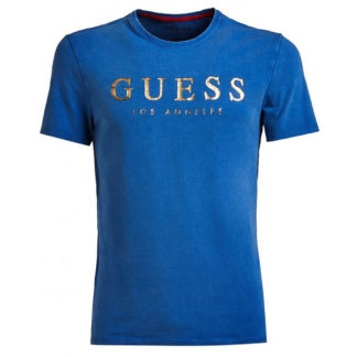 GUESS T SHIRT UOMO M91I37 J1300 F79K ROYAL