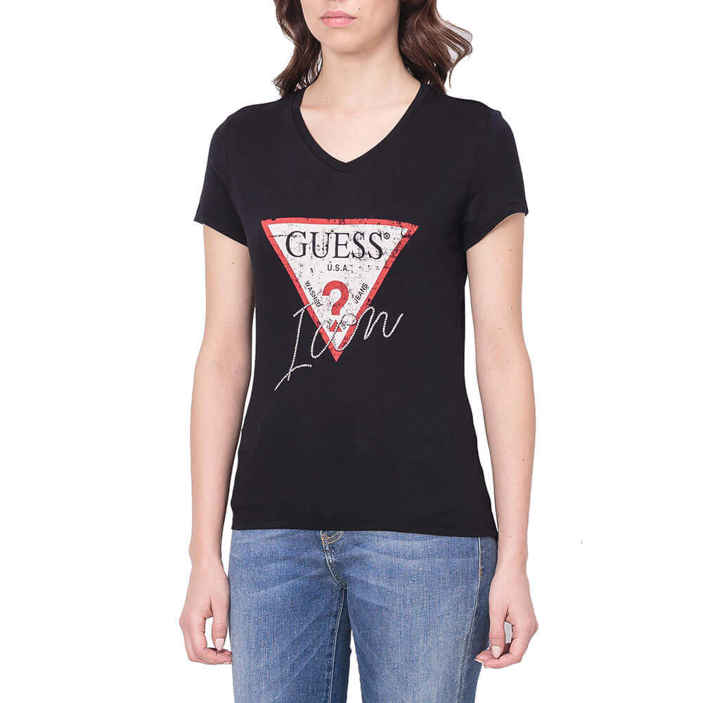 GUESS T SHIRT DONNA W91I69 K46D0 G501 ROSSO