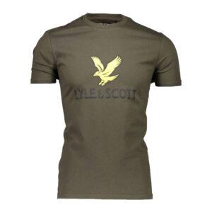 LYLE & SCOTT LOGO t shirt TS1020V 028 VERDE
