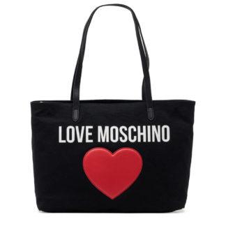 LOVE MOSCHINO BORSA CANVAN PEBBLE PU NERO JC4330PP07KV100A