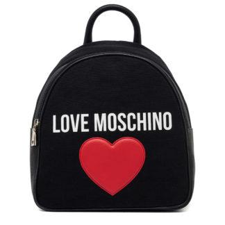 LOVE MOSCHINO BORSA CANVAN PEBBLE PU NERO JC4331PP07KV100A