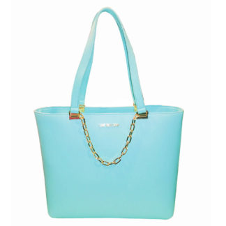 LOVE MOSCHINO BORSA SMOOTH PU AZZURRO JC4306PP07KQ0700