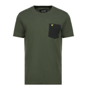 LYLE & SCOTT T SHIRT CONTRAST POCKET TS831V GREEN