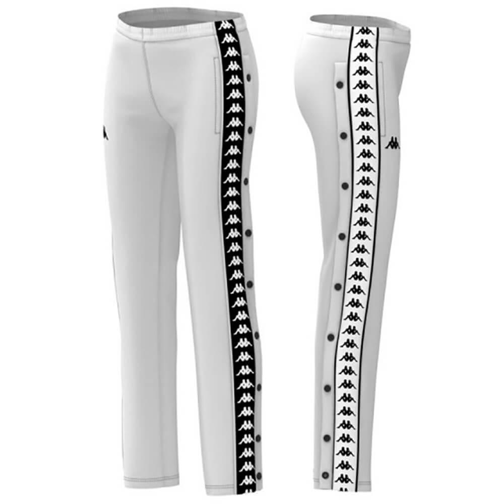 Détails sur Kappa Bande 222 Pantalons Femme Wastoria Snaps Slim 303gfy0 A65 Blanc Noir