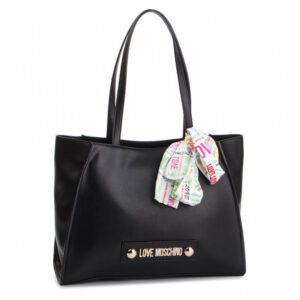 LOVE MOSCHINO BORSA SOFT GRAIN PU NERO JC4247PP07KF0000