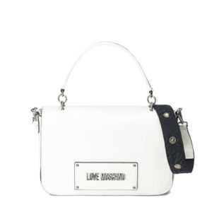 LOVE MOSCHINO BORSA SHINY PU BIANCO JC4220PP07KC110A