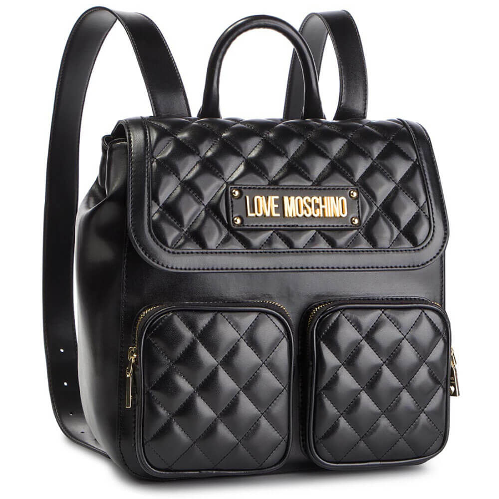 23033529b2 LOVE MOSCHINO ZAINETTO BORSA QUILTED PU NERO JC4207PP07KA0000